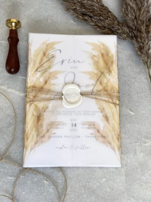 Pampas Grass Wedding Invitation01