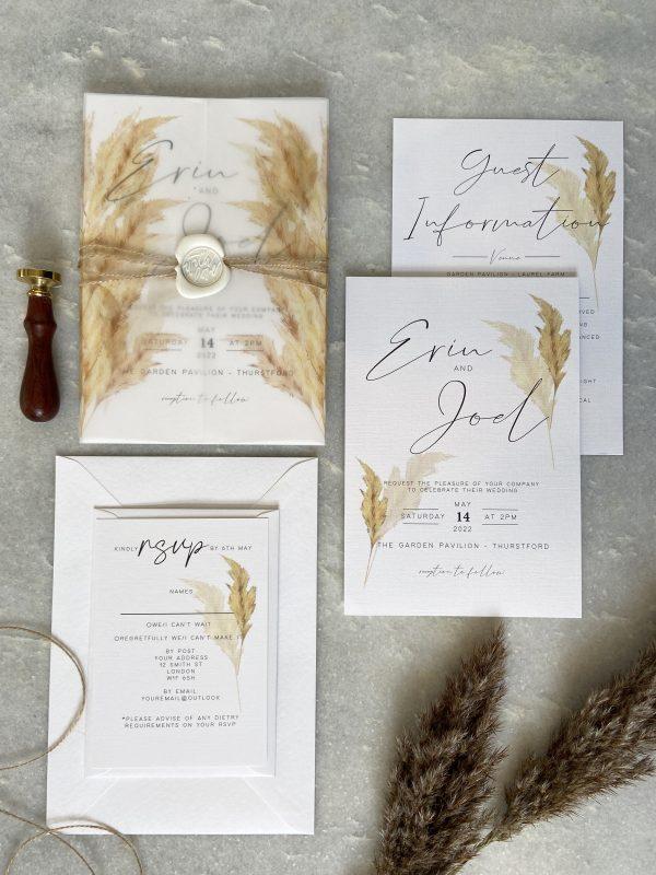 Pampas Grass Wedding Invitation02