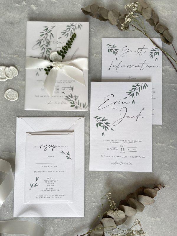 Fern Wedding Invitation02